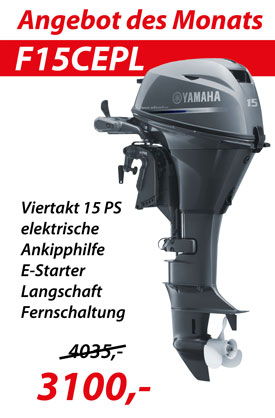 Angebot des Monats Yamaha F15CEPL